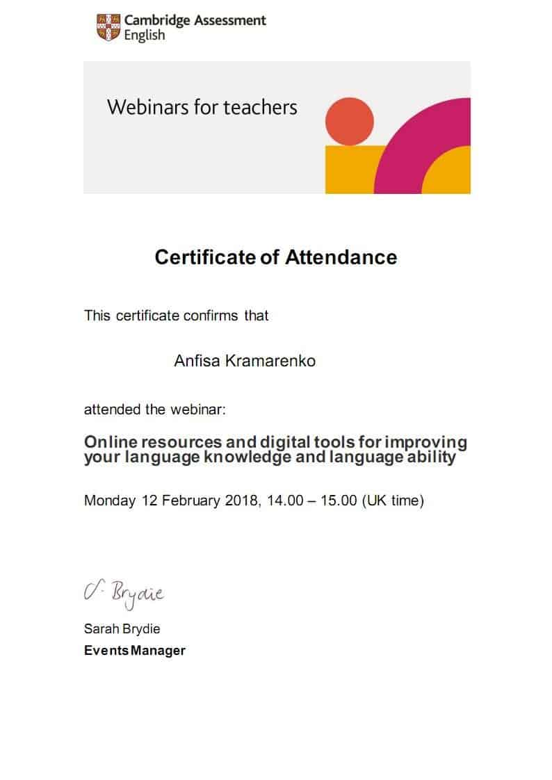Cambridge Assessment English Certificate