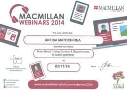 Macmillan Certificate