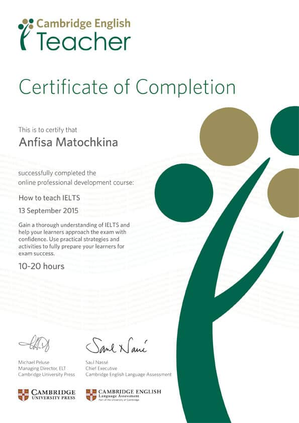 How to teach IELTS Certificate