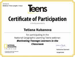 teens kubanova certificate