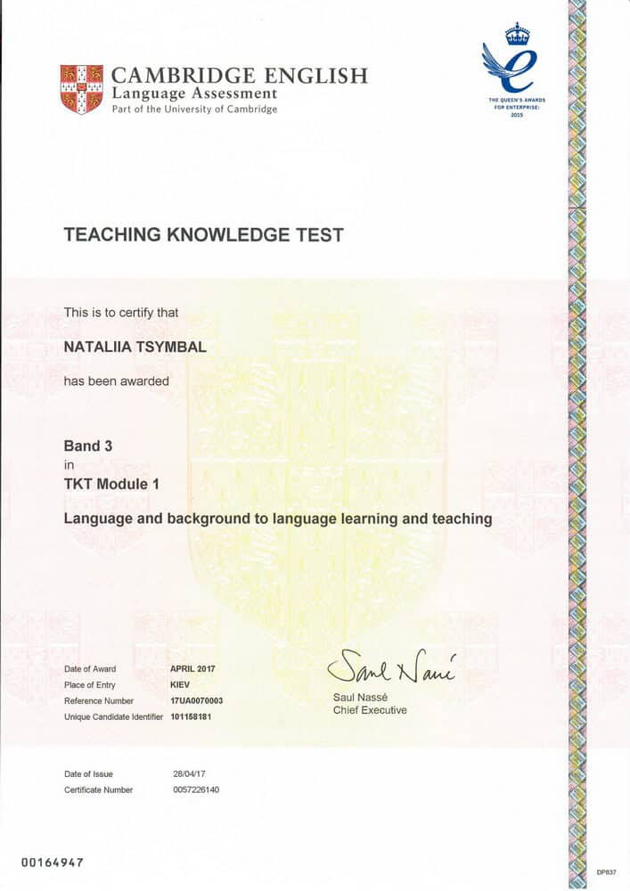 Teaching Knowledge Test (TKT) Certificate Module 1