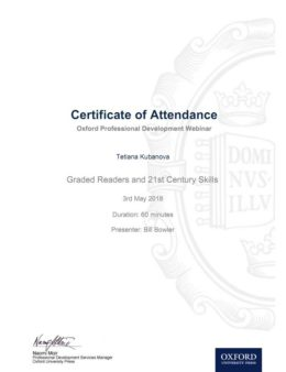 oxford kubanova certificate