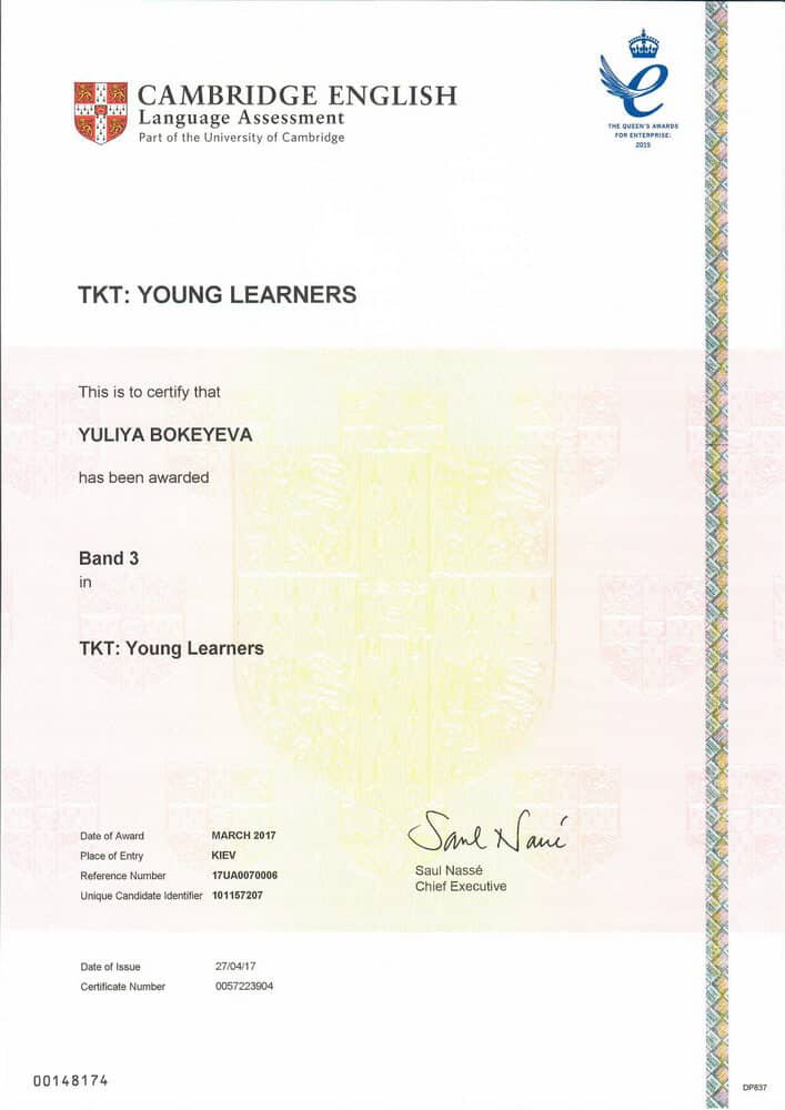 TKT (Teaching Knowledge Test) Certificate