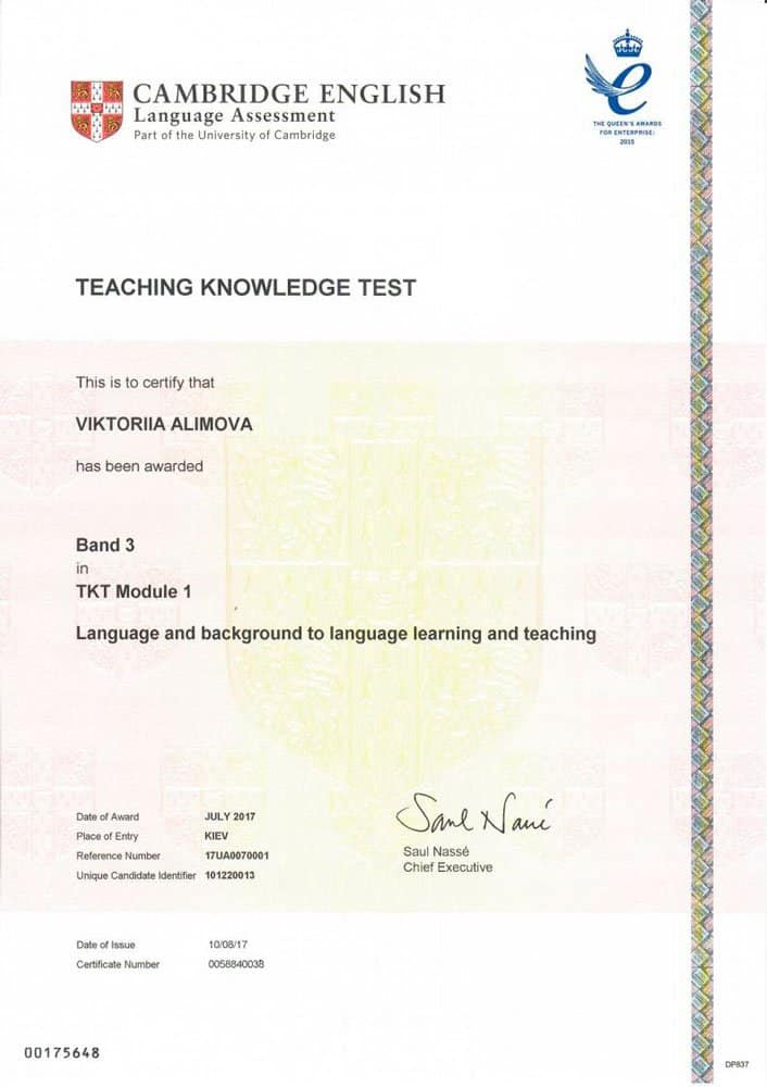 Teaching Knowledge Test (TKT) Module 1
