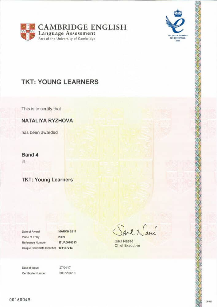 Teaching Knowledge Test Certificate: Young Learners