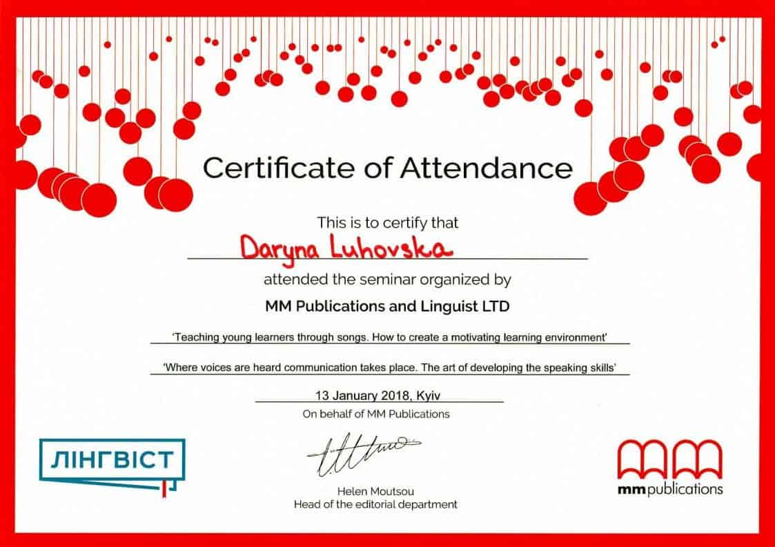 MM Publications and Linguist LTD Webinar Certificate