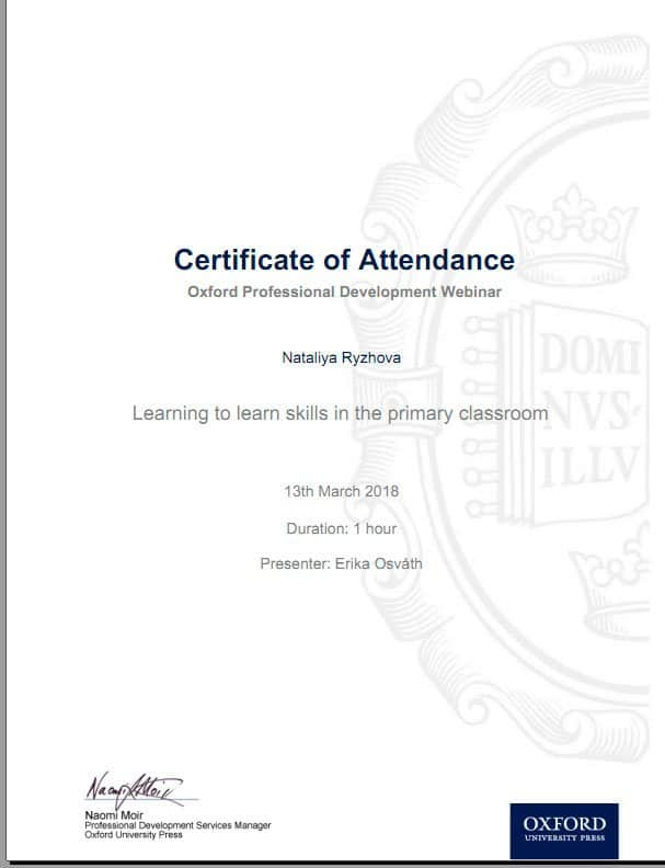 Oxford Professional Development Certificate
