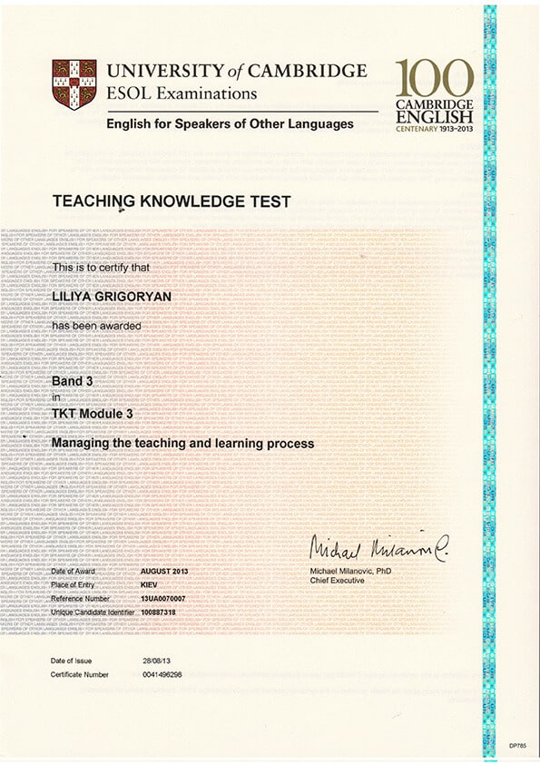Teaching Knowledge Test (TKT) Module 3