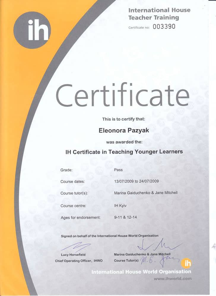 International House Teacher Training Certificate