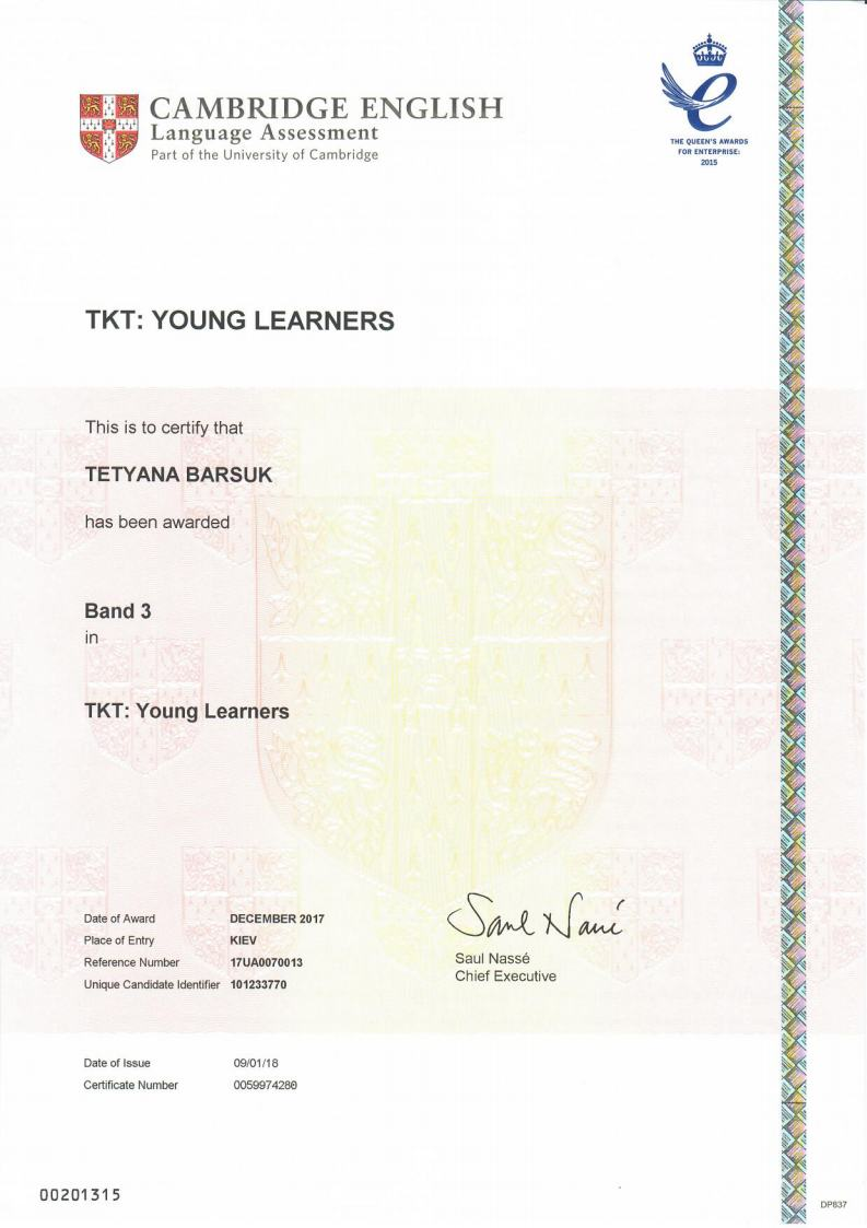Teaching Knowledge Test (TKT) Young Learners