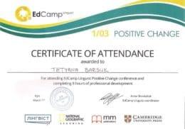 barsuk edcamp linguist positive change