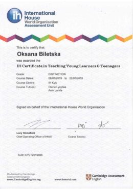 biletska IH teaching young learners and teenagers
