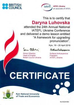 luhovska iatefl a framewor for upgrading pronunciation
