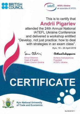 pigarev iatefl strategies in an exam classes