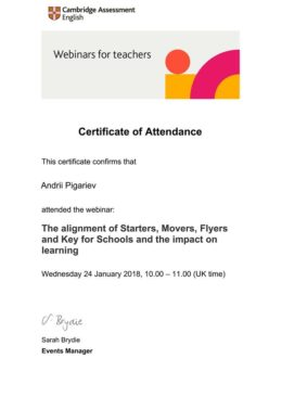 pigarev the alignment of starters movers flyers and key for schools