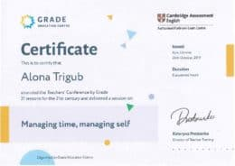 trigub managing time managing self speaker