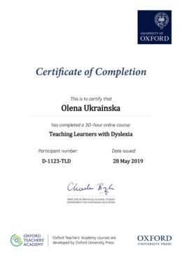 ukrainska teaching learners with Dyslexia