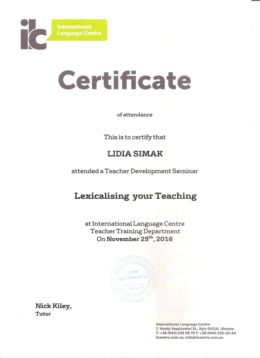 simak lexicalising your teaching