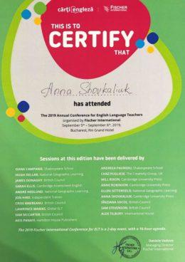 shovkaliuk fischer international teachers conference