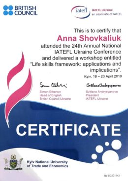 shovkaliuk life skills framework workshop