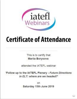 borysova follow up to the iatefl plenary
