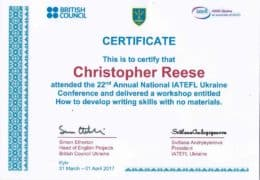 22nd iatefl ukraine reese