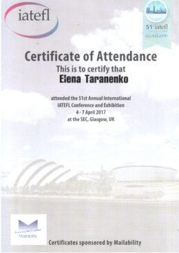 IATEFL Certificate