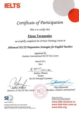 taranenko advanced ielts preparation strategies for english teachers
