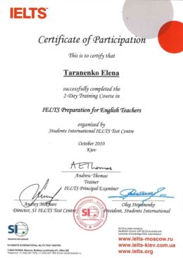 taranenko ielts preparation for english teachers