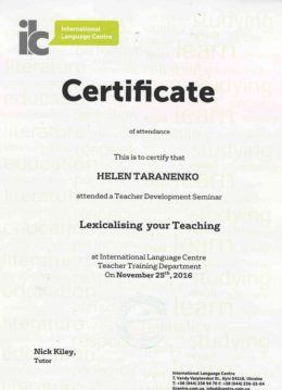 taranenko lexicalising your teaching
