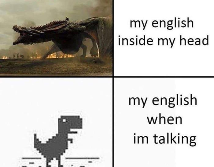 english in my head and talking