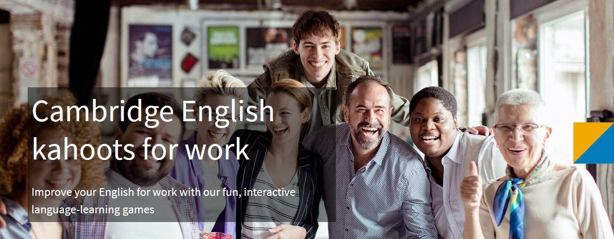 Cambridge Assessment English создали Kahoot, чтобы тренировать английский для работы